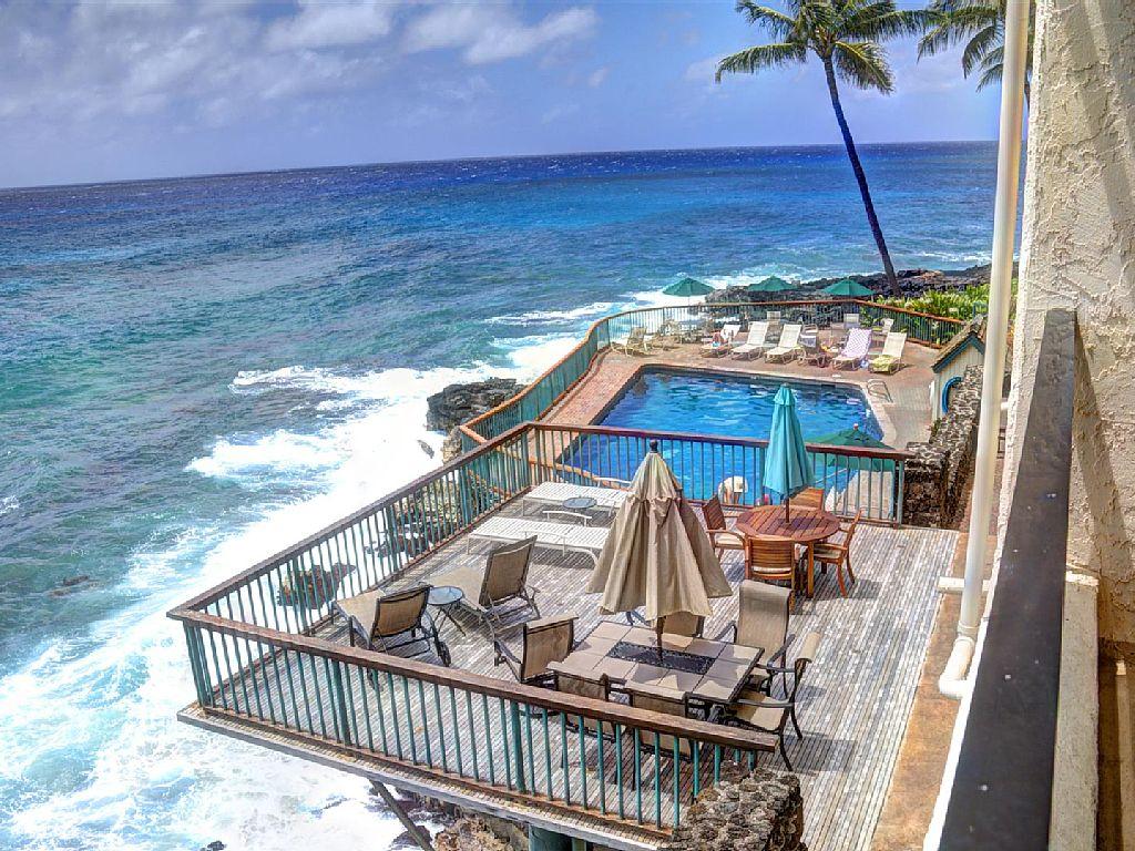 Poipu Ocean Front Condo In Poipu South Shore 201b Kauai