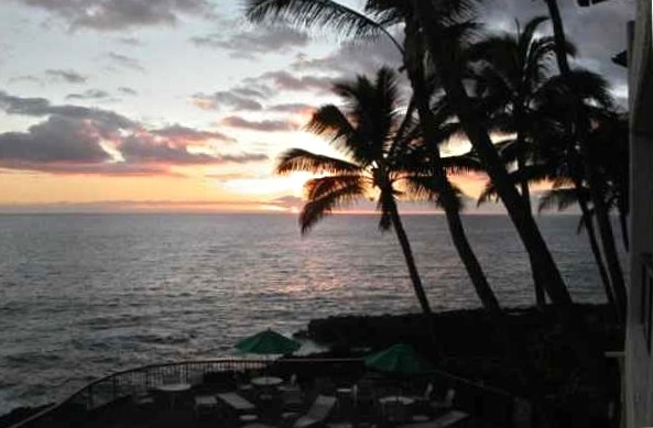 Poipu Shores condo Sunset