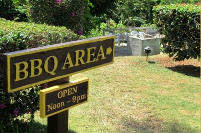 bbq area close by